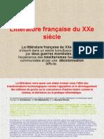 Littérature Française Du XXe Siècle