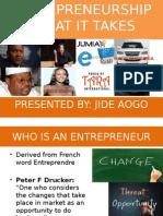Entrepreneurship....