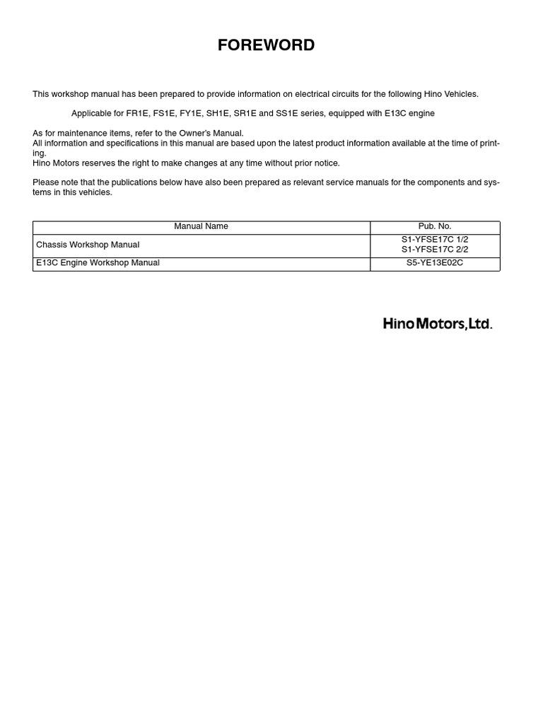 Hino Ke Wiring Diagram Basic Guide Freightliner Jake 700 Series Rh Scribd Com Kenworth T800 Schematic Diagrams 2000