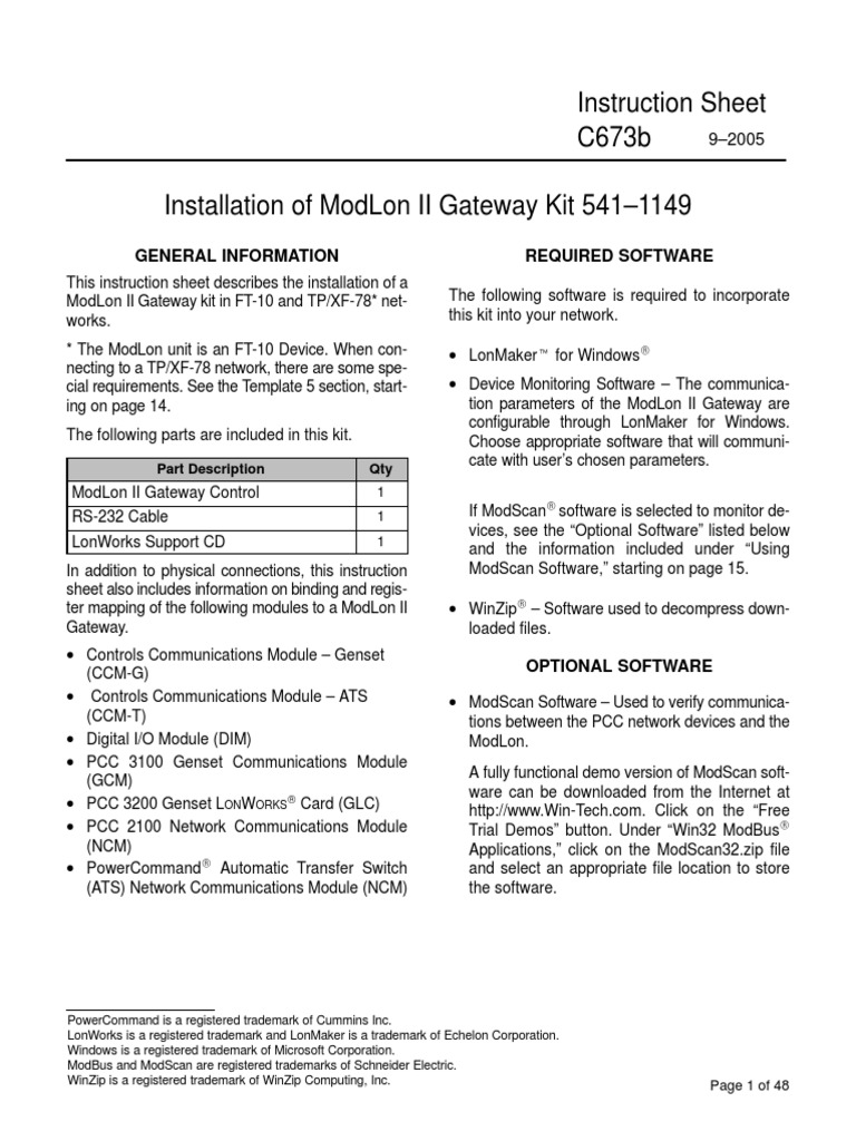 C673b modlon ii instruction sheetpdf electrical connector c673b modlon ii instruction sheetpdf electrical connector gateway telecommunications freerunsca Image collections
