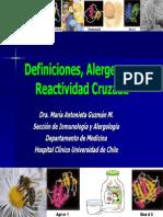 Deficiniciones, Nomenclatura y Principales Alergenos