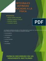 Integrales Definidas Aplicadas a La Fisica Analisis123