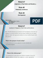 CivPro Presentation Rules 47,48,49