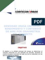 Masa unitaria, rendimiento y contenido de aire por gravimetría del concreto.pptx