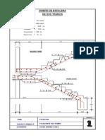 Diseño Escalera de Dos Tramos