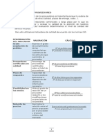 Evaluación de Proveedores -Logística