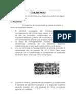 Procedimiento de Muestro y Analisis de Concentrado 1