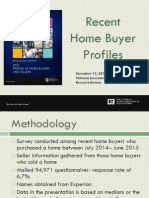 Recent Home Buyer Profiles