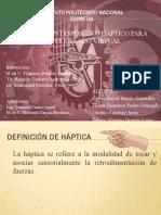DISEÑO DE UN DISPOSITIVO HÁPTICO PARA MODELADO VIRTUAL