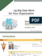 Nevada DGS 2015 Presentation - Making Big Data Work -Alan Simon