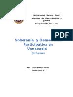 Soberanía y Democracia Participativa  en Venezuela