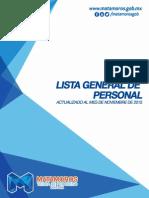 Lista General de Personal del Gobierno Municipal de Matamoros