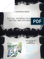 Social Interaction and Relationship