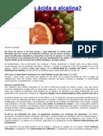 Dieta Acida Alcalina de Marisol Gisasola