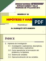 Sesion 3 Hipotesis y Variables