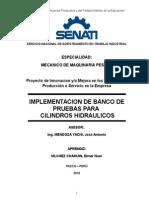 Implementacion de Banco de Pruebas Para Cilindros Hidraulicos
