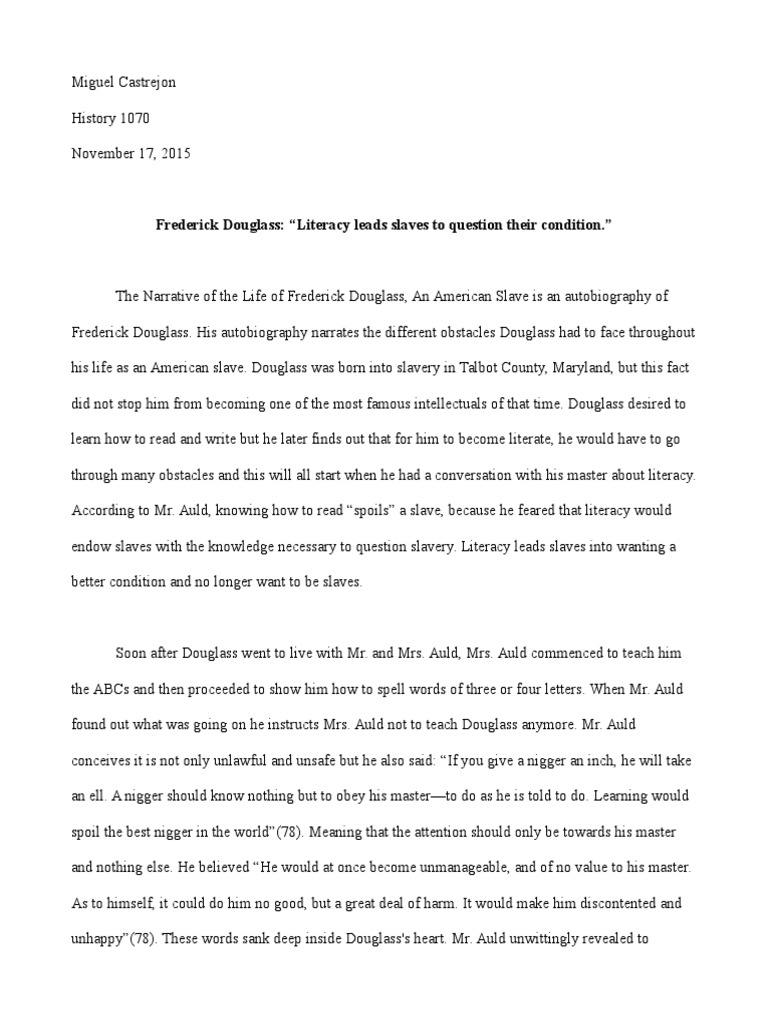 Midterm  Frederick Douglass  Abolitionism In The United States  Health Essay Sample also Compare And Contrast Essay Examples For High School  Short Essays For High School Students