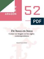 52.GARCIA-Comer en Aragon en Los Siglos Contemporaneos