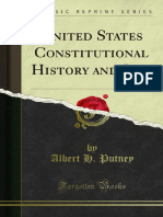 United States Constitutional History and Law 1000130018