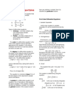 Differential Equations Handouts
