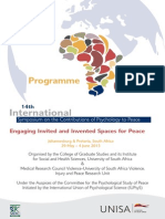 programme 14th international symposium on the contributions of psychology to peace