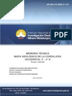 Memoria Tecnica Mapa Geologico Cordillera Occidental 3-4 s