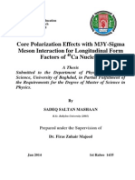 Core Polarization Effects With M3Y-Sigma