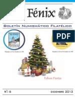 Boletín Numismático y Filatélico Ave Fénix  - N° 6 - Diciembre 2013