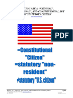 "Why You are a ""national"", ""state national"", and Constitutional but not Statutory Citizen, Form #05.006"
