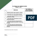 Senarai Semak Fail Peribadi Murid 20161