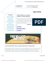 April 2010 KBF eNewsletter