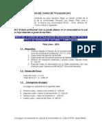 Requisitos Para Curso de Titulacion 2015