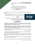 Ley General de Cultura Física y Deporte mexico