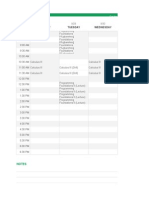 schedule  excel file