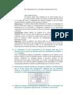 Preguntas de Organización y Sistemas Administrativos
