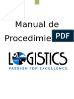 Manual de Procedimientos LOGISTICS