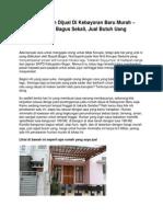 Iklan Rumah Dijual Di Kebayoran Baru Murah – Kondisi Bagus Sekali, Jual Butuh Uang - www.antara-sumbar.com
