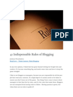 41 Indispensable Rules of Blogging