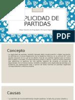 Derecho Registral - Duplicidad de Partidas