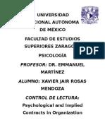 Contratos psicológicos e implícitos en las organizaciones