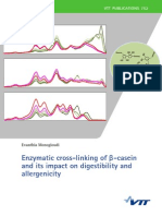 Enzymatic Cross-linking of Β-casein