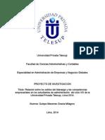 Proyecto de Investigacion de metodologia del trabajo universitario