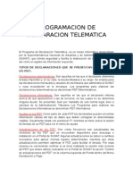 Programacion de Declaracion Telematica