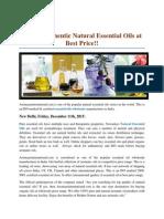 Get Authentic Natural Essential Oils at Best Price!!