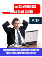 Excel Sum Product Quick Start Guide