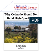 Why Colorado Should Not Build High-Speed Rail