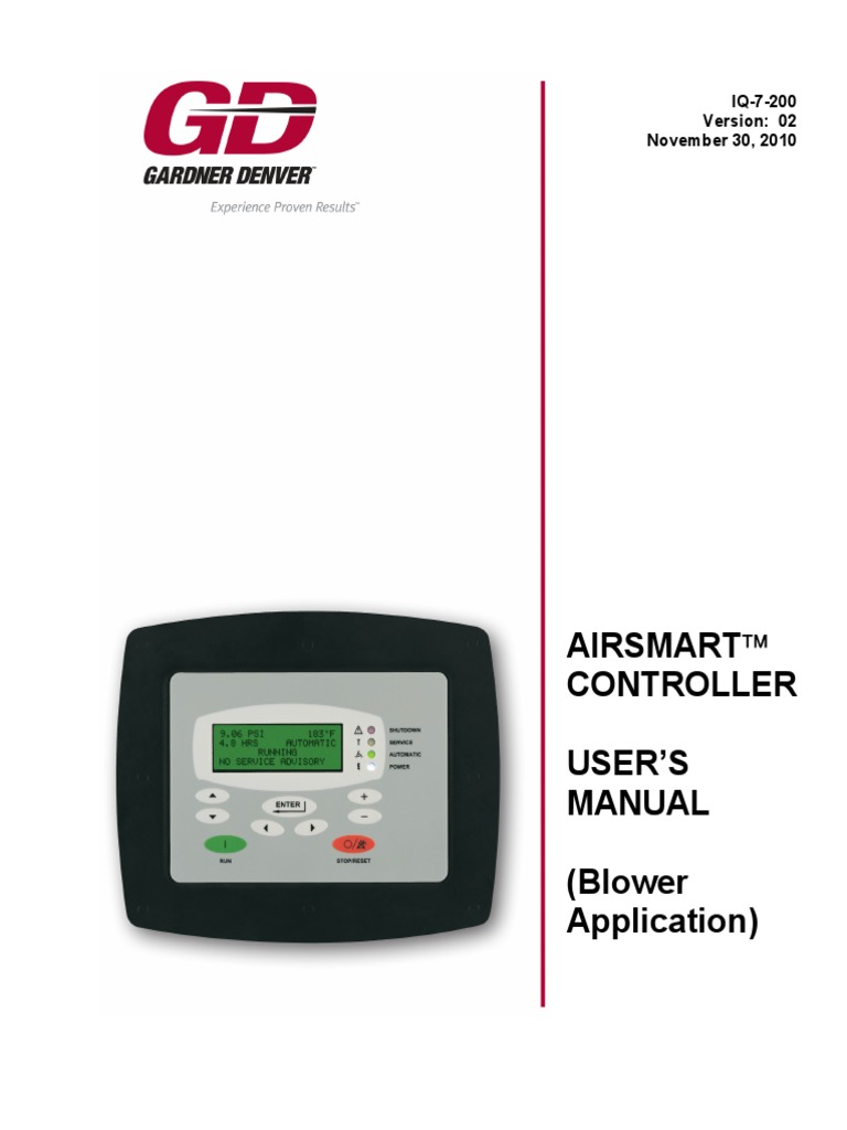 Air Smart Controller Manual | Timer | Menu (Com) on
