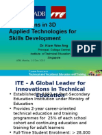 Innovations in 3D Applied Technologies for Skills Development