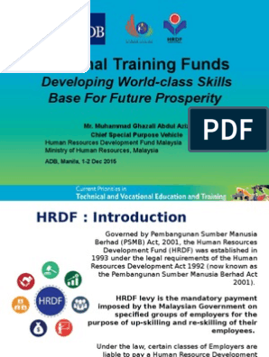National Training Funds Developing World Class Skills Base For Future Prosperity Apprenticeship Vocational Education
