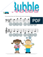 Bubble Note Name Worksheet
